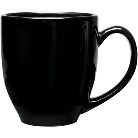 Solid-Color Bistro Ceramic Mug (16 Oz., Black)