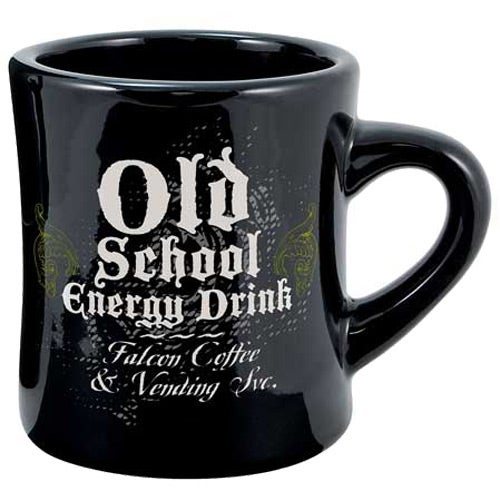 Black Vitrified Ceramic Diner Mug