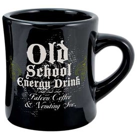 Vitrified Ceramic Diner Mug (10 Oz., Screen Print, Black)