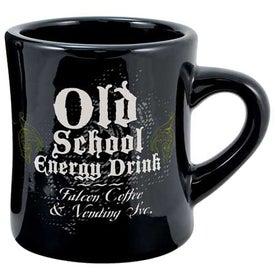 Black Vitrified Diner Mug (10 Oz.)