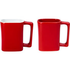 Square Mug (11 Oz., Red)