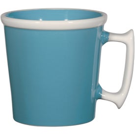 Square Up Mug with Your Slogan
