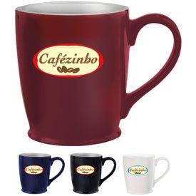 Stylish Cafe Mug with Your Slogan