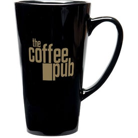 Tall Java Latte Ceramic Mug (16 Oz., Black)