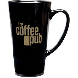Tall Java Latte Ceramic Mug (16 Oz., Black)