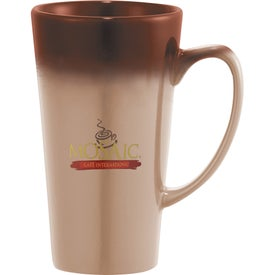 Logo Cafe Tall Latte Ceramic Mug