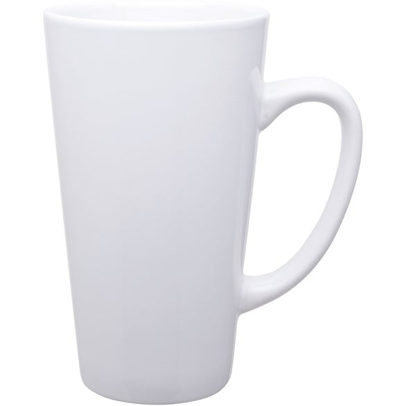 White Tall Latte Ceramic Mug