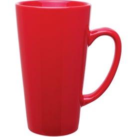 Tall Red Latte Mug (16 Oz.)