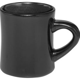 Thick Grip Glossy Ceramic Diner Mugs (12 Oz.)