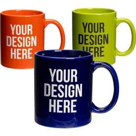 Traditional Ceramic Coffee Mugs (11 Oz., Colors)