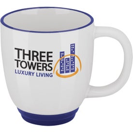 Branded Two-Tone Bistro Mug