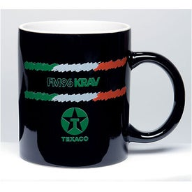 Two Tone Mugs (11 Oz., 1 Location, Black/White)