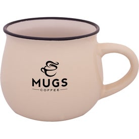 Two-Tone Glossy Pottery Coffee Mug (12 Oz.)