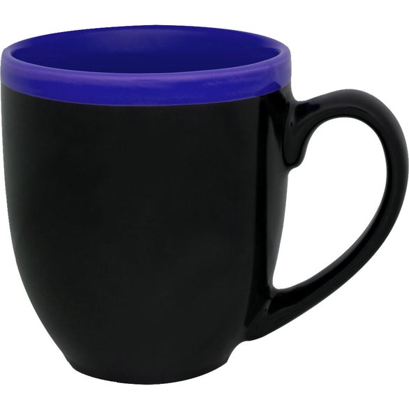 Black / Blue Two-Tone Halo Bistro Mug