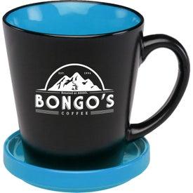 Two-Tone Latte Mug with Ceramic Coaster (12 Oz.)
