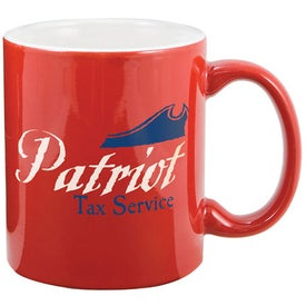 Two Tone Mug (11 Oz., 1 Location, Red/White)