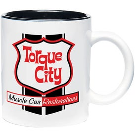 Two Tone Mug (11 Oz., White/Black)