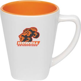 Two Tone Square Mug with Your Logo