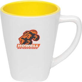 Two Tone Square Mug with Your Slogan