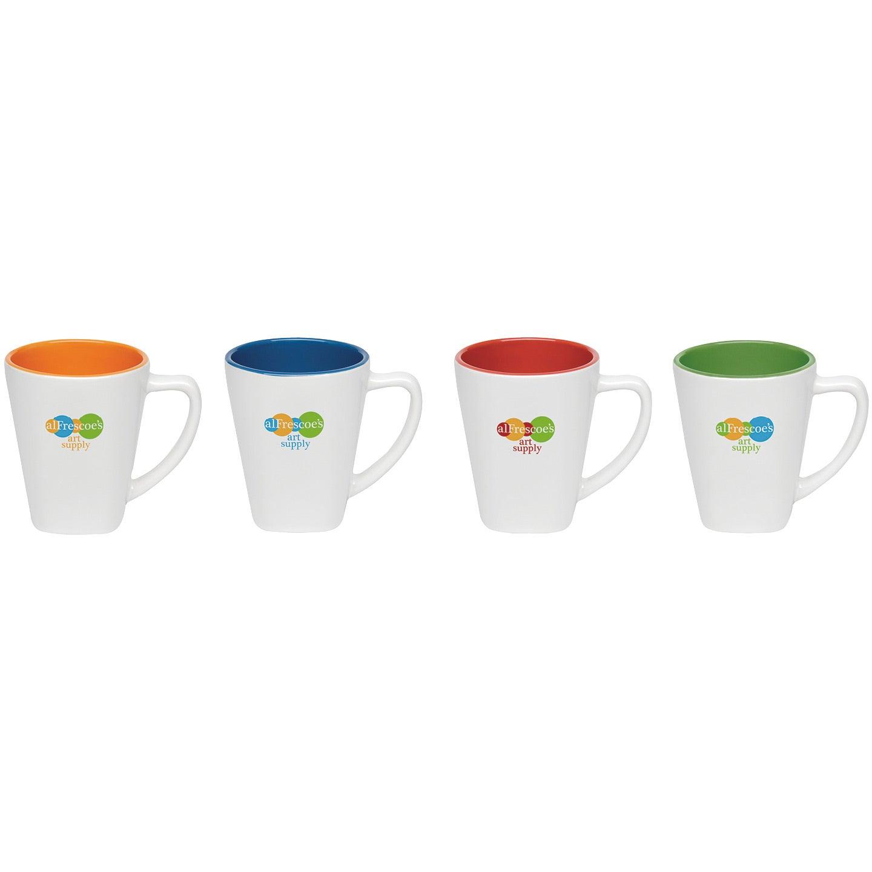 promotional 14 oz two tone square mugs with custom logo for 2 81 ea