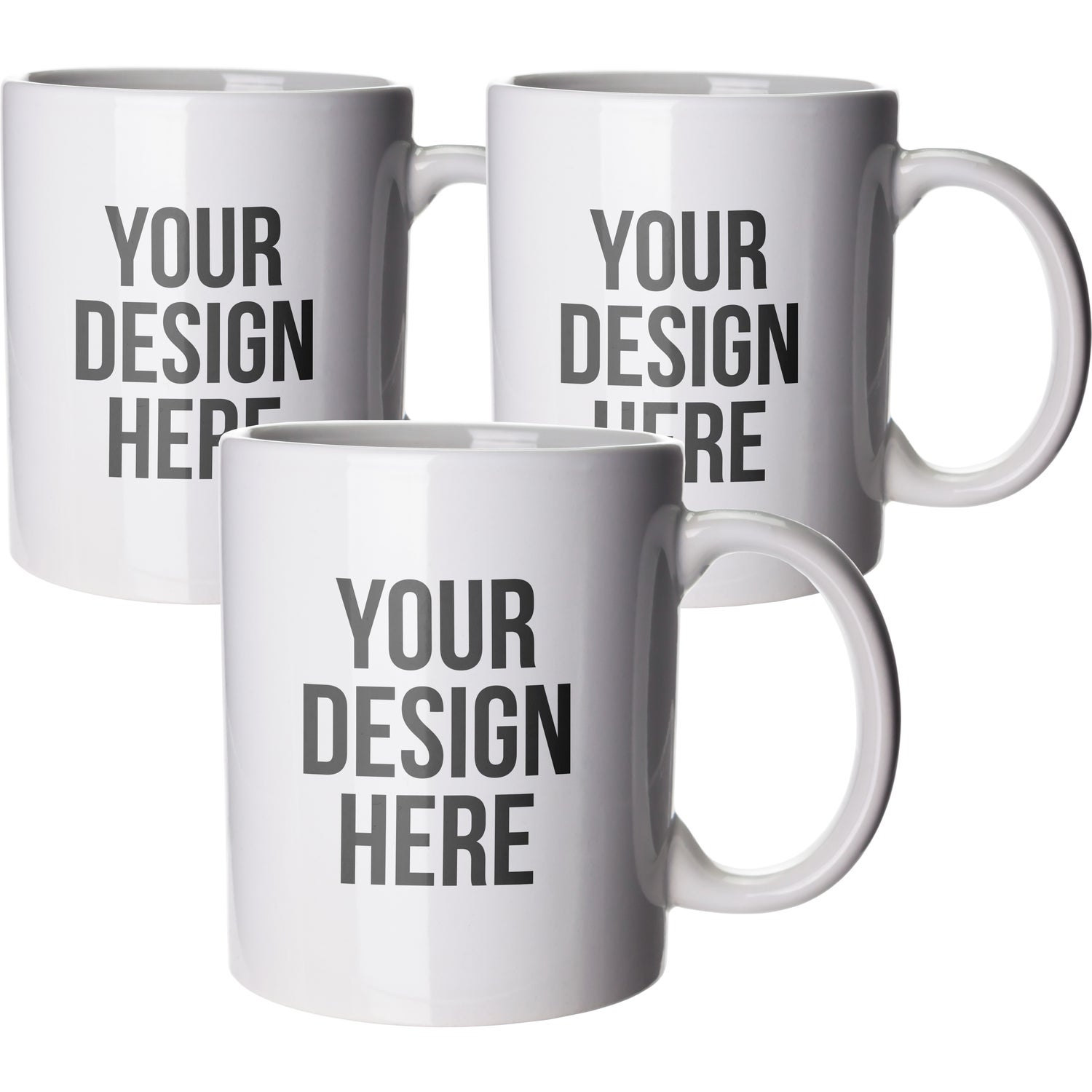 White Budget Coffee Mug 11 Oz Branded