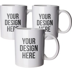 Budget Coffee Mugs (11 Oz., White)