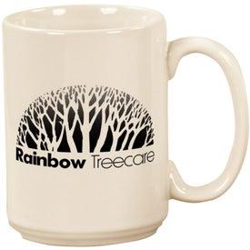 White Pinehurst Ceramic Mug for your School