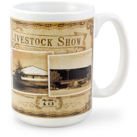 White Sublimation Mug (15 Oz., Full Color)