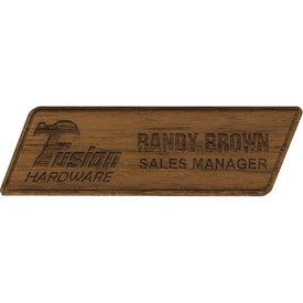 Custom Wood Name Badges