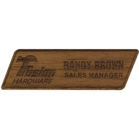 Texture Tone Custom Wood Name Badges (2