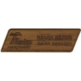 Texture Tone Custom Wood Name Badges