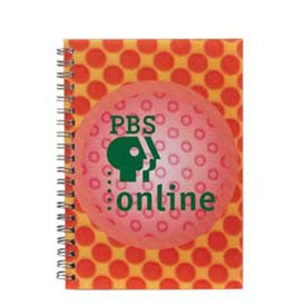 3D Spiral Notebook with Your Slogan