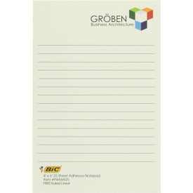 "BIC Adhesive Sticky Note Pads (4"" x 6"" w/ 50 Sheets)"