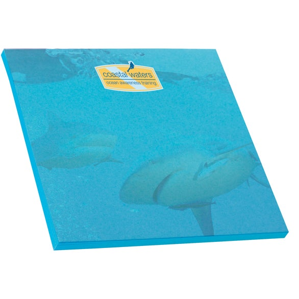 Bright Blue BIC Adhesive Colored Paper Notepad