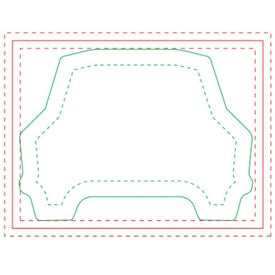 "Adhesive Die Cut Notepads (4"" x 3"" w/ 25 Sheets)"