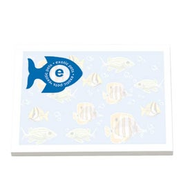 Adhesive Notepads Stock Design with Your Slogan