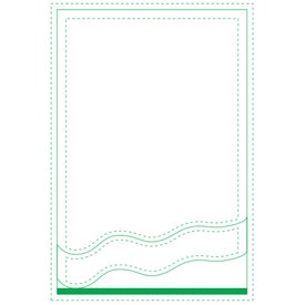 "Angled Wave Beveled Adhesive Sticky Note Pads (4"" x 6"")"