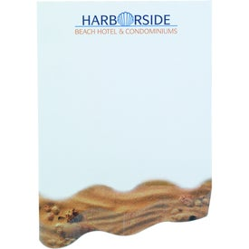 "Angled Wave BIC Ecolutions Adhesive Beveled Notepad (4"" x 6"")"