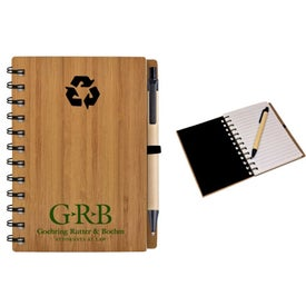 Bamboo Journal Imprinted with Your Logo