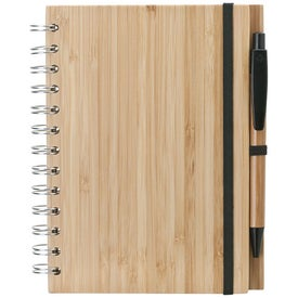 Bamboo Notebook and Pen Branded with Your Logo