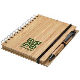Bamboo Notebook and Pen Printed with Your Logo