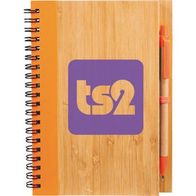 Imprinted Bamboo Notebook