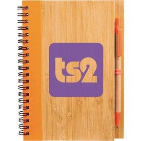 Imprinted Bamboo Notebook