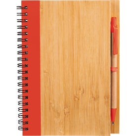 Bamboo Notebook with Your Slogan