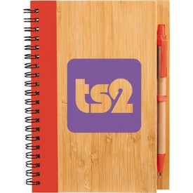 Monogrammed Bamboo Notebook