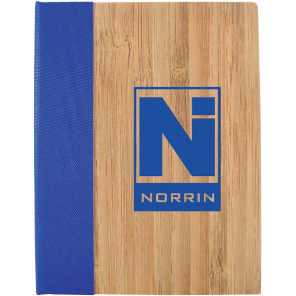 Brown / Blue Bamboo Sticky Notebook