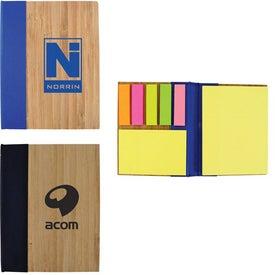 Monogrammed Bamboo Sticky Notebook
