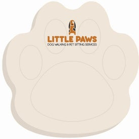 Paw BIC Ecolutions Adhesive Die Cut Notepad (Small, 25 Sheets)