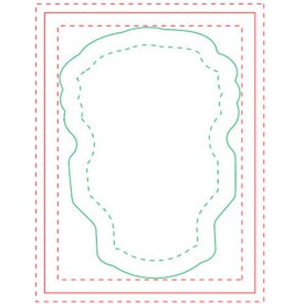 Bulb BIC Ecolutions Adhesive Die Cut Notepad (25 Sheets)