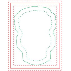 """Bulb BIC Ecolutions Adhesive Die Cut Notepad (4"""" x 3"""", 100 Sheets)"""